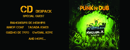 Cd digipack punk n dub de Nagual X - Cd digipack punk n dub de Nagual X
