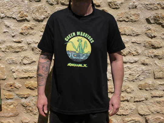 tee shirt green warriors