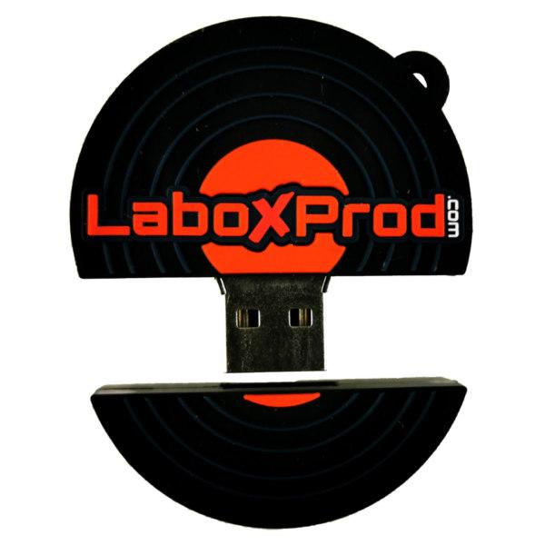 Clé usb Vinyle Laboxprod 2 pouces open